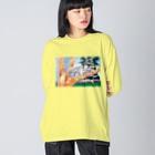 nelcoのオーストラリアの親子 Big silhouette long sleeve T-shirts
