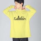 bani-emonのペンギンズ Big silhouette long sleeve T-shirts