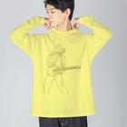 ユメデマデのplay the guitar Big silhouette long sleeve T-shirts