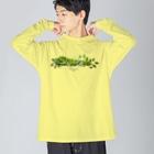 OJIKのクロアゲハイモムシ Big silhouette long sleeve T-shirts