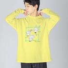 kameのびっくりガールズ Big silhouette long sleeve T-shirts