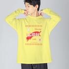 猫社謹製の山猫軒 Big silhouette long sleeve T-shirts