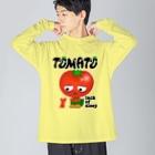 yuccoloの寝不足トマト Big silhouette long sleeve T-shirts