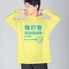 KAWAGOE GRAPHICSの強打者 Big silhouette long sleeve T-shirts