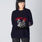アトリエねぎやまのTOMATO the CHABO Big silhouette long sleeve T-shirts