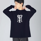 stereovisionのTMマーク Big silhouette long sleeve T-shirts