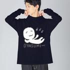 わたくしのお店のWATAKUSHIのOYASUMI Big silhouette long sleeve T-shirts