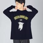nanaqsaのにゃっほり Big silhouette long sleeve T-shirts
