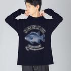 猫と釣り人のISHIGAKIDAI_EB_2CW Big silhouette long sleeve T-shirts