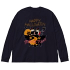 """""""すずめのおみせ"""" SUZURI店のハロウィン(だいちゃん&りんちゃん) Big Long Sleeve T-shirt"""