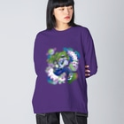 Makiko KodamaのStreetは宇宙 No.2 Big silhouette long sleeve T-shirts
