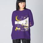 金星灯百貨店の銀河バケーション Big silhouette long sleeve T-shirts