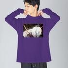 yonshirouのなまはげ Big silhouette long sleeve T-shirts