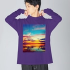 mizuphoto.comの甘美な誘惑 Big silhouette long sleeve T-shirts
