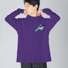 みどりいろ通信のxxx Big silhouette long sleeve T-shirts