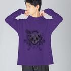 BENの【AZ】Cat Big silhouette long sleeve T-shirts