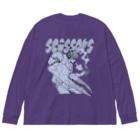 ねこぜもんのScissors (前面)  Big silhouette long sleeve T-shirts