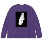 iminonaimojiの祈り Big silhouette long sleeve T-shirts
