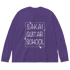 TACAのグッズ売り場のSAKAI GUITAR SCHOOL 白文字 Big silhouette long sleeve T-shirts