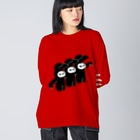 MIKAの肩組みBrothers Big silhouette long sleeve T-shirts
