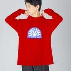 RAKKANのUSAMEITA! BLUE! Big silhouette long sleeve T-shirts