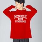 てなが.jpのメタボロゴ-白 Big silhouette long sleeve T-shirts