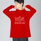 HORSMART公式ショップの色選べます『HORSMARTオリジナル商品(ホワイト)』 Big silhouette long sleeve T-shirts