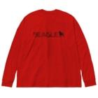 イラストカフェのビーグル★シルエット Big silhouette long sleeve T-shirts