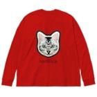 saoliicaのネコのN氏 Big silhouette long sleeve T-shirts
