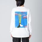 iminonaimojiの冠 Big silhouette long sleeve T-shirts