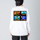 sketchのFlower of Life Big silhouette long sleeve T-shirts