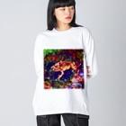 Fantastic FrogのFantastic Frog -Sparkle Version- Big silhouette long sleeve T-shirts
