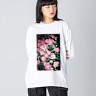 harucameraのharucamera シャクヤク Big silhouette long sleeve T-shirts