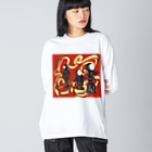 Dr.イエロー46のサイケデリック Big silhouette long sleeve T-shirts