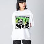 Dr.イエロー46の仕込んだ音源流すDJ Big silhouette long sleeve T-shirts