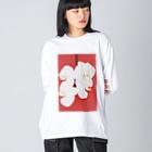 harucameraのharucamera コチョウラン-4 Big silhouette long sleeve T-shirts