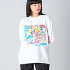 coaiの花のイロ Big silhouette long sleeve T-shirts