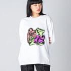 シノアの百花繚乱。(ひゃっかりょうらん) Big silhouette long sleeve T-shirts