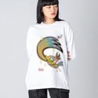 リリーさんのグッズ店のトリリー Big silhouette long sleeve T-shirts