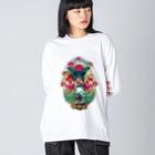プシュケとラーガ【公式】のコラージュグッズ Big Silhouette Long Sleeve T-Shirt