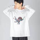 tsuchのスピノサウルス Big silhouette long sleeve T-shirts