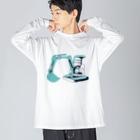 デンドロまりちゃんのミニユンボ Big silhouette long sleeve T-shirts