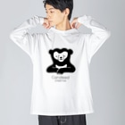 Candeed Creativeのマレーグマ(ロゴあり) Big silhouette long sleeve T-shirts