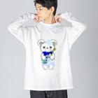 CEのSAKEくま 泡盛 Big silhouette long sleeve T-shirts