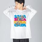 有明ガタァ商会の妖精に召された魚2 Big silhouette long sleeve T-shirts