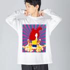 Kho-KのI'm here!!! #4 Big silhouette long sleeve T-shirts