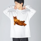 Elegant  CatのElegant Cat 2 Big silhouette long sleeve T-shirts