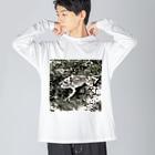 Fantastic FrogのFantastic Frog -Sketch Version- Big silhouette long sleeve T-shirts