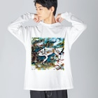 Fantastic FrogのFantastic Frog -Coolness Version- Big silhouette long sleeve T-shirts