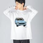 ナノのトラバント601  Big silhouette long sleeve T-shirts